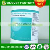 for poultry 20% Tylosin +20% Doxycycline Water Soluble Powder/Veterinary Medicine /from Pharmaceutical factory