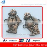 CD7530 Antique Copper Metal Bear Logo Labels for Kids