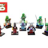 DIHAO Mini DECOOL 8pcs/set Anime Cartoon Model boys Ninja Turtle building block action figure educational toy NO.501-508