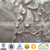 turkey plastic drip brushed velvet anti slip rubber patch dripping velour fabric for sofa cover
