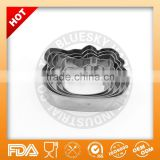 Beauty design high quality plunger cookie cutter/cat cookie cutter/cookie cutter stainless steel