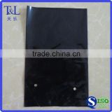 Factory T&L produced low price and high quality black LDPE poly planting bag with round hole