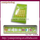 Small smile face self adhesive fabric sticker label