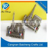 house shaped cheap metal badge/tag with top quality and nice service offer custom design and brand name making