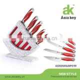 Home kitchen use hobby knife set with ss blade,PP stand