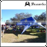 Heavy duty blue 19m star shaped tent/large event tent/100 person marquee tent for exhibition