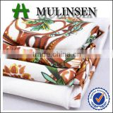 Mulinsen Textile Woven Colorful Flower Stretch For Wholesale Polyester Printed Satin Fabric