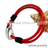 leather wrap bracelet wholesale with stainless steel closure                                                                                                         Supplier's Choice