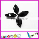 2014 New! sew on rhinestones 10*20mm number 3073# Mermaid shape Jet/black color Strass crystal beads for Sewing wedding dress