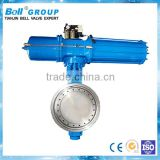 1.6 Mpa solenoid actuated butterfly valve, butterfly valves with pneumatic actuator, butterfly valve