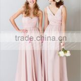 Sexy A-line Sweetheart Pink Long Chiffon Bridesmaid Dress Maid Of Honor Dress ZY516