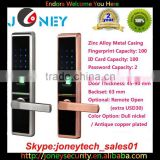 2015 Best Selling NEW Biometric Fingerprint Door Lock Alloy Metal Casing with touch screen keypad