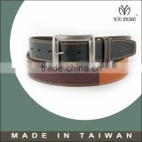 Luxurious high quality leather belts embroidered with sturdy metal buckles