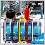 love mei s4 i9500 aluminum waterproof case for samsung galaxy s4 LOVE MEI Case Metal Gorilla Glass Cover case for samsung s4