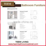 2015 hot sales new europe style modern Multi layer solid wood ceramic top Sanitary bathroom mirror cabinet