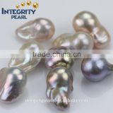16-17mm freshwater natural color undrilled or half drilled wholesale pearl AAA large nucleated baroque loose pearls