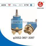 360 Rotation 35mm brass Ceramic Cartridge for thermostatic cartridge