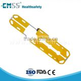 emergency yellow devided folding portable plastic scoop stretcher
