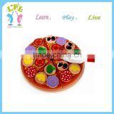 Wholesale custom high quality Wooden Pizza Party Set wood baby kids educational toy for sale