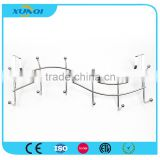 Wave Shape Household Wall Mounted Metal Pothook with 6 Hooks Used in Bedroom, Kitchen and Bathroom XQ1144