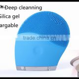 HOT waterproof silicone Facial Cleansing Brush Cleanser Massager Acne Blackhead Remover Electric Body Face