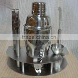 7pcs metal whiskey bar accessory set