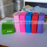 Eco-friendly cigarette pack cover silicone rubber /aluminium cigarette box cases,slim silicone cigarette case