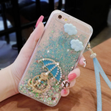 Diamond Finger Ring Stent Holder cell Phone cover case Silicone mobile Phone Cases for iPhone7/7Plus/6/6s/6plus/6splus