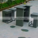4 PC Sectional New Outdoor Rattan Bar Furniture