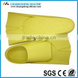 Hotselling yellow silicone mermaid tail swim shoes from China manufacture