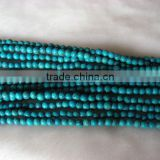 wholesale jewelry fashion round shape turquoise loose beads strand