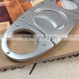 Stainless steel double blade guillotine metal cigar cutter accessories CM-012U