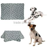 Cute Pet Puppy Dog Cat Blanket Paw Prints Soft Warm Fleece Mat Bed Cover (Color: Gray(S,M), Light Brown(L) )