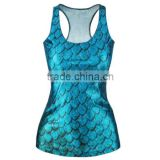 wholesale custom cheapest elastane 3d sublimation tank top