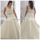 plus size mermaid lace beaded fat woman wedding dress