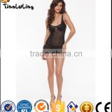 High Quality Hot Selling women dress black woman sexy transparent lingerie manufacture