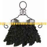 Multi ruffles girls dancing mini skirts boutique ballroom dance dress for girls latest fashion dresses girls skirts