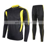 2017 youth new design cricket jerseys customized design men black long sleeve football uniforms