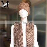 New Design Wool Unisex Plain Knit Hats High Quality Wool Scarf Hat and Scarf Knitting Machine