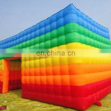 inflatable Rainbow color tent inflatable photo booth for lawn yard decor