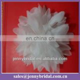 FL051A wedding decoration fabric white organza flowers