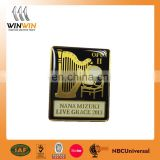 music enamal pin badge for promotional gifts