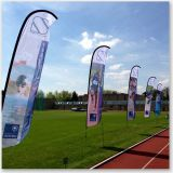 Outdoor Flying Flag Feather Flag for Events and Sports