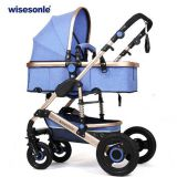 Factory Wholesale High-End New style and Luxury Aluminum Alloy Baby Stroller,Can Sit and Lie Baby Pram,