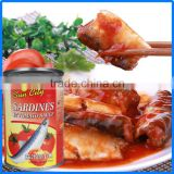 canned sardines in Zhangzhou/Chinese best canned sardine brand with good quality