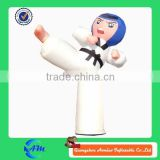 advertising inflatable taekwondo customized cartoon for sale