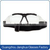 Wrap around dustproof basketball soccer vollayball safety dribble goggles with black frame