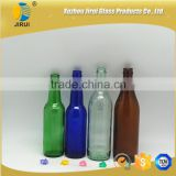 green blue amber glass beer bottles/ soju glass bottle with crown cap                                                                                                         Supplier's Choice