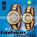 Natural wrist maple wood watches for couples,factory wholesale Japanese movement couples watch