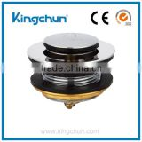 Bathtub Waste and Overflow Brass Strainer Assembly Course Thread Bushing and Tiptoe Stopper